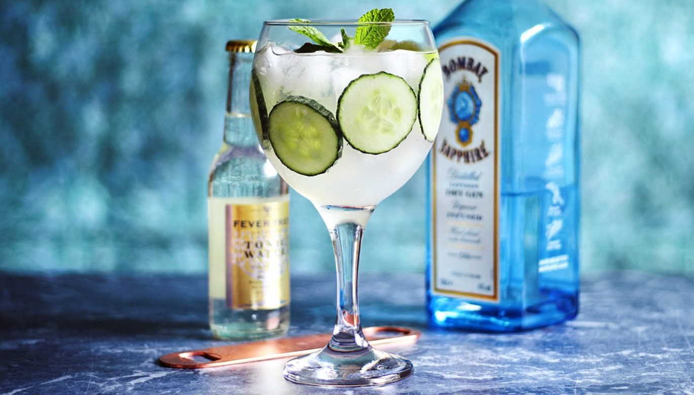 Happy Hour: Cucumber-Mint Gin and Tonic