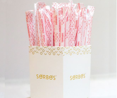 Sorbos Straw Strawberry